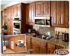 Showplace Renew Cabinet Refacing Before And After Gallery   Beautiful  Kitchens   Pinterest   Kitchen Ideas, Kitchen And Kitchen Cabinets