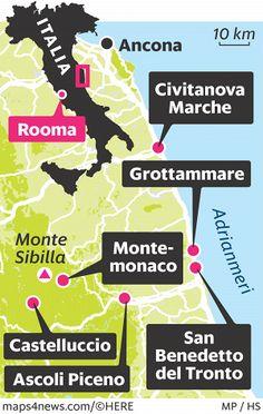 Marchen eteläosan matkailuseudulla ehtii saman päivän aikana vuoristovaellukselle ja Adrianmeren aaltoihin.
