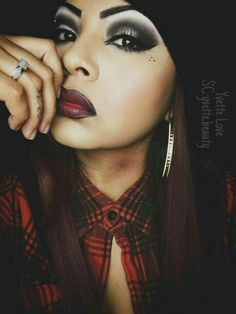 Chola makeup look by Yvette Love. (Hickies are not real, they are part of the look lol)
