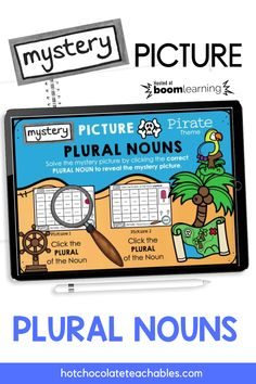My students always need extra practice remembering PLURAL NOUN endings. Add -s? Add -es? Drop the y and add -ies? This mystery picture activity will make identifying 40 different plural nouns with -s, -es and -ies endings a bit more fun and engaging. English Vocabulary Games, Grammar And Vocabulary, Teachers Pay Teachers Free, Supreme Art, Teacher Must Haves, Plural Nouns, English Language Learners, Classroom Language, Thats The Way