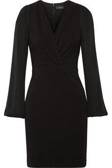 Gucci Silk-paneled stretch-jersey dress | NET-A-PORTER