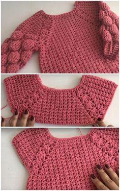 Two Way Baby Shirt Free Crochet Pattern clothes patterns diy New And Stylish Free Crochet Patterns - DIY Rustics Crochet Bolero, Beau Crochet, Pull Crochet, Crochet Cardigan Pattern, Crochet Girls, Crochet Baby Clothes, Crochet For Kids, Free Crochet, Diy Crafts Crochet