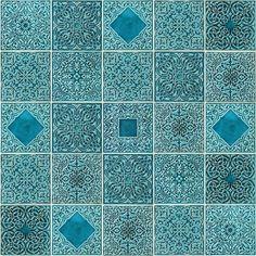 PRACOWNIAZONA - kafle turkusowe arabeski