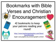 Bible Verse and Christian Encouragement Bookmarks - Good Character, Too! Sunday School, Back To School, Christian School, Christian Encouragement, Libraries, Bookmarks, Schools, Bible Verses, Homeschool