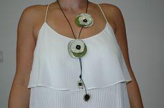 Roses ...Μπλε και Πράσινο Handmade Necklaces, Washer Necklace, Jewelry, Fashion, Moda, Jewlery, Jewerly, Fashion Styles, Schmuck