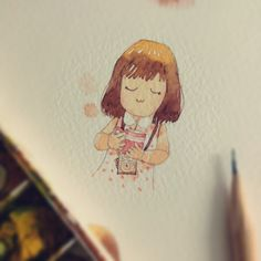 my cartoon watercolor painting ;)