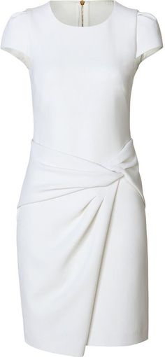Shop for Stretch Wool Draped Skirt Sheath by Emilio Pucci at ShopStyle. Simple Dresses, Day Dresses, Cute Dresses, Beautiful Dresses, Short Dresses, Elegant Dresses, Emilio Pucci, White Sheath Dress, Draped Skirt
