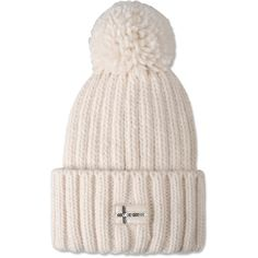 Napapijri Hat ($51) ❤ liked on Polyvore featuring accessories, hats, ivory, sequin hat, white winter hat and napapijri