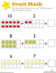 math worksheet : kindergarten practice adding math worksheet printable  childrenu0027s  : Kindergarten Math Addition Worksheets