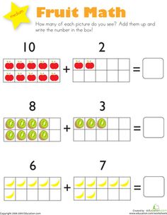 math worksheet : addition math worksheets for kindergarten  class  pinterest  : Maths Worksheets For Reception