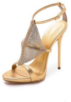 Giuseppe Zanotti Crystal Mesh Heels on shopstyle.com