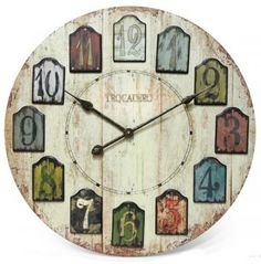 Tag clock would be fun in a craft / card / scrapbooking room.  Now, if I only had wall space left for it.  :D