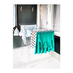 FROST Drying rack, indoor/outdoor IKEA Simple to fold up and put away.Suitable for both indoor and outdoor use.