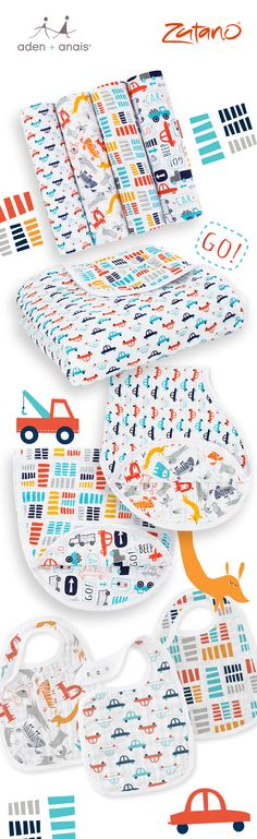 We couldn't get enough of @zutano's fun, vibrant aesthetic and are thrilled to unveil our second collaboration! From puppy and car swaddles, bibs and dream blankets, we have something for every little one!