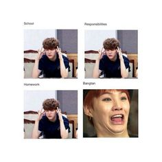 Haha what is Suga doing in that last pic??? Oh...Bangtan definitely ruined my life