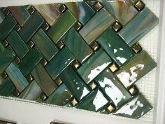 Fused Glass Bamboo style backsplash Would make a great plate design Fused Glass Plates, Fused Glass Art, Mosaic Glass, Stained Glass, Mosaic Backsplash, Mosaic Tiles, Slumped Glass, Glass Installation, Mosaic Wall Art