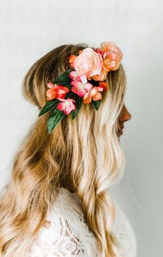 28 Wedding Hairstyles With Flower Crowns We Love | Wedding Decor Ideas
