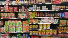 Here is a variety of products from Wal-Mart that are from a large Mexican sub-culture that we see in Texas a lot. All these ingredients and brands are influenced and come from the Mexican cuisine which is a huge piece of a groups culture. In Texas Mexican food and other aspects of Mexican culture has assimilated very well. We even see a new genre of food called Tex-Mex as the two cultures have merged and made another sub-culture that mixes the cuisine of both.