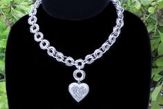The Love and Roses Chainmail Choker by RingedDesigns on Etsy, $35.00