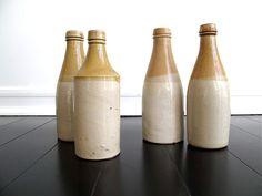 Vintage Bottle - Vintage Beer Bottles - Vintage Milk Bottles - Ceramic bottle. $26.00, via Etsy.