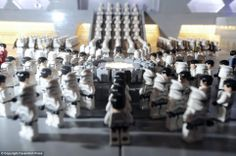 Clone Troopers in formation in the Star Wars movie Episode II Attack of The Clones.