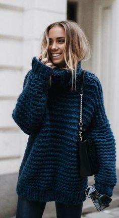 Le pull oversize 15 looks cozy à copier - pull tricoté