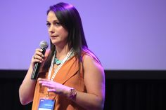 """Sophie Rayers from Brightcove (UK) presenting """"Amplifying Content Marketing with Video: Best Practices for Telling your Brand Story"""""""