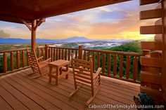Pigeon Forge Cabin - What a View Too - 1 Bedroom - Sleeps 6