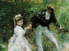 La passeggiata, 1870, olio su tela, Pierre-Auguste Renoir. J. Paul Getty Museum, Los Angeles, USA.