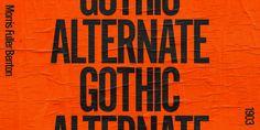 Alternate Gothic - Webfont & Desktop font « MyFonts