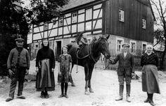 Mobendorf in Sachsen, frühes 20. Jahrhundert.