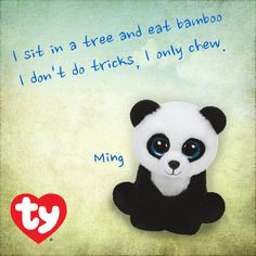 Ming the panda is a NEW 2015 Beanie Baby