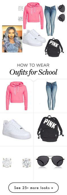 """Already for school"" by punkyd on Polyvore featuring Only Play, True Religion, NIKE, Victoria's Secret and The Row"