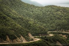 """""""One of the many winding passages through the Cabot Trail. Cape Breton Highlands, Nova Scotia."""""""