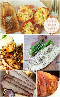 Weekly Meal Plan #3 - Recipes for Family Dinners | KristenDuke.com