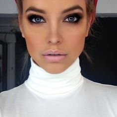 Smoky eyes and blush lips!