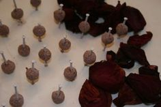make rosary beads from rose petals, crafts, Drying