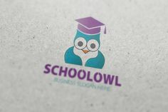 School Owl Logo by fastudiomedia on Creative Market