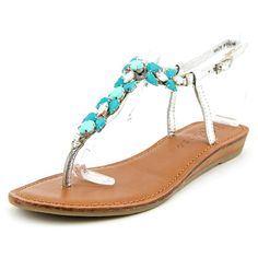 8e63ae386 Dress up any outfit with these jewel-bright Matisse women s tender leather  sandals. Turn