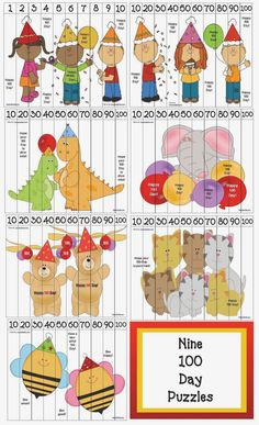 Classroom Freebies: 100 Day Number Puzzles