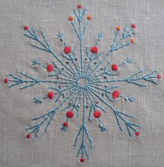 Radial Motif in Whipped Running stitch, pdf for sale
