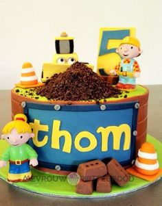 Peachy 107 Best Bob The Builder Cake Images Bob The Builder Cake Bob Funny Birthday Cards Online Elaedamsfinfo