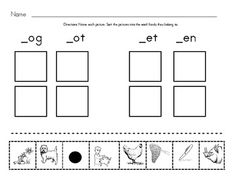 free! Phonemic Awareness: Kindergarten: Segmenting: Word Families