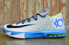 "Preview: Nike KD VI ""Pure Platinum, Vivid Blue & Volt"""