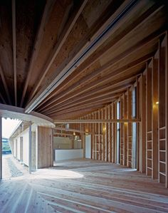 house VI by nks architects | exposed wooden structure