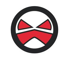 This is the outline and development of my logo. A based steering wheel and the interface which is the red part in the middle is to depict a mouth/mask. The eyes are for more detail to the steering wheel to make the expression more visible. Mouth Mask, Outline, Middle, Symbols, Eyes, Detail, Logos, How To Make, Icons