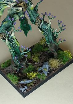 Warhammer Age of Sigmar Wood Elves / Sylvaneth Treeman Pro Painted | eBay