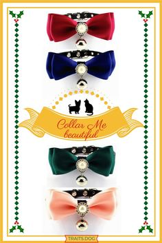 A beautifully embellished, handmade, Retro Style Pearl and Satin bowtie collar for your dog, cat or other four-legged friend. available in multiple colors. Dog Best Friend, Cat Accessories, All About Cats, Cat Collars, Amazing Women, Retro Fashion, Dog Lovers, Pup, Dog Cat