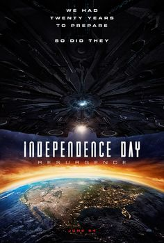 Independence Day: Resurgence, 20 years after the original, the sequel will arrive in theaters this June.