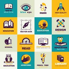 Education Flat Icons Pack Free Vector | Download Free Vector ...
